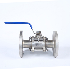 Three-piece forged steel flange ball valve