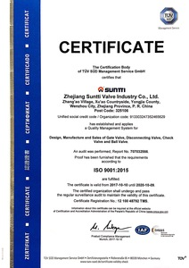 ISO 9001 Quality Management System Certificate English